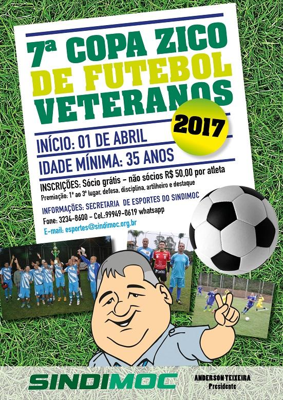 Este sábado começa a 7ª Copa Zico de Futebol - Veteranos 2017! bde292a425a09