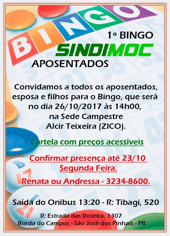 Secretaria do Aposentado realiza bingo no próximo dia 26 cc31e5426f7d9